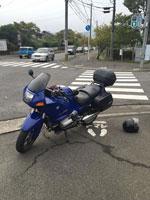 趣味のバイクで出張